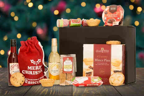 KNPH - Christmas hamper including wine, luxury mince pies, Christmas pudding, fudge and more - Save 62%