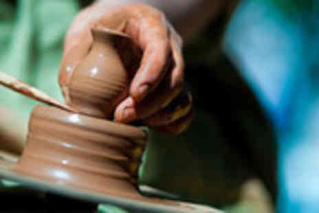 Cheshire Craft Workshop - Potters wheel experience and drink - Save 50%