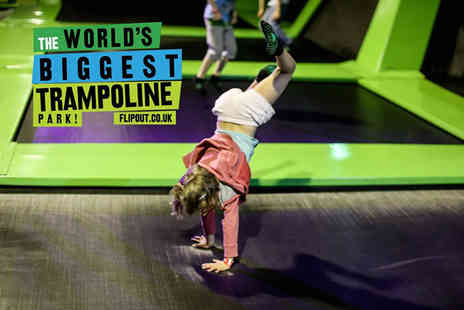 Flip Out Glasgow - Two hour jump session for one person - Save 48%