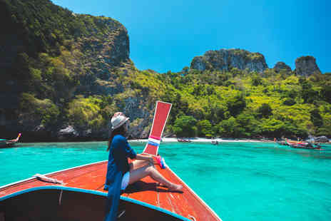 Great Pacific Travels - Ten nights Phuket and Phi Phi, Thailand break with breakfast, ferry, one lunch or dinner per person, spa treatment each, welcome drink and return flights - Save 25%