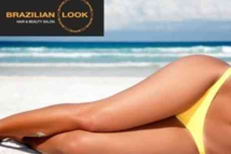 Brazilian Look - Brazilian and Hollywood and Full Leg Wax - Save 59%