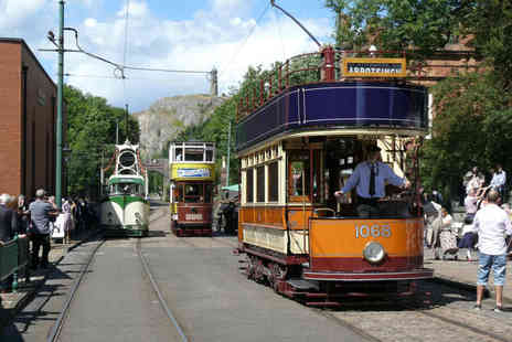 National Tramway Museum - Adult ticket to Crich Tramway Village, Matlock, family pass for two adults and up to three children - Save 29%