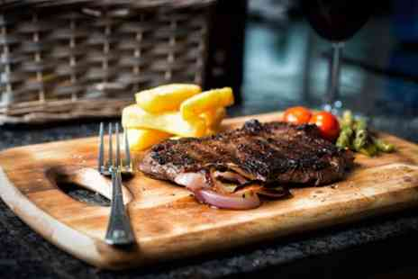 Angel Inn - Choice of 10oz Steak with Bottle of Wine to Share Between Pairs for Two or Four - Save 0%