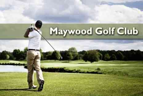 Maywood Golf Club - 18 Holes of Golf For Two Plus Sausage Sandwich and Hot Drink Each - Save 62%