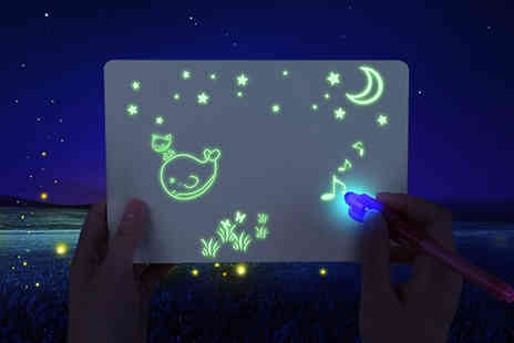 WhoGotThePlan - 3D Light Up Drawing Board Available in 3 Sizes - Save 75%