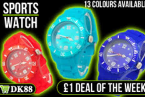 DK88 - Super cool silicone fashion watch - Save 94%