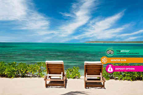Crystal Travel - Five nights all inclusive Mauritius beach break with return flights - Save 45%