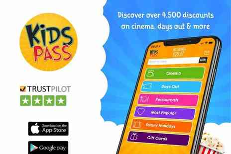 Kids Pass - 12 month Kids Pass to 1000s of attractions, cinemas and restaurants - Save 0%