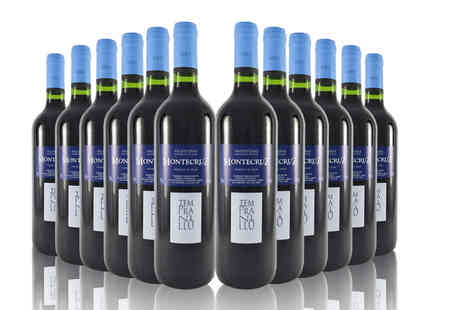 Q Regalo - 12 Bottles of Spanish Red Tempranillo La Mancha wine - Save 73%
