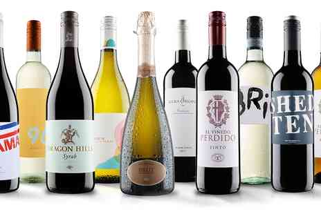 Virgin Wines Online - 10 bottles of red, white or mixed wine - Save 57%
