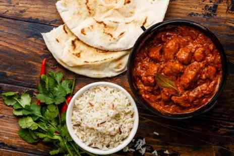 Dynasty Lounge and Restaurant - Two Course Indian Meal with Wine for Two or Four - Save 35%