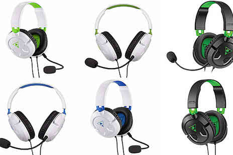 Stock Must Go - PS4 or XBOX Turtle Beach Recon Gaming Headset Choose from 2 Colours - Save 86%