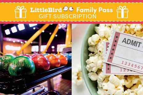 LittleBird - Give the Gift of a LittleBird Family Pass A Year of Savings on Days Out, Cinema, Restaurants and More - Save 0%