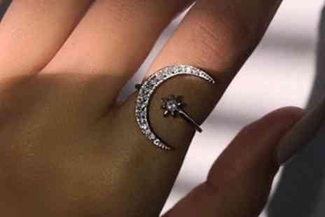 Groupon Goods Global GmbH - One or Two Moon and Star Rings - Save 87%