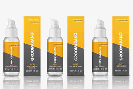 Groomerang - Two piece male grooming bundle including day gel and night cream - Save 0%