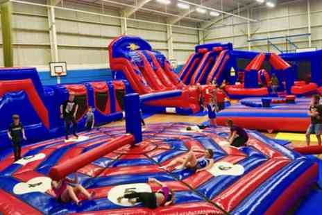 Wipeout World - 75 minute Festive Obstacle Course Session for Up to Four Children - Save 40%