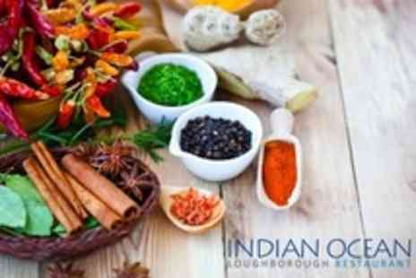 Indian Ocean - Two Course Indian Meal With Rice, Naan Bread and Liquor Coffee For Two - Save 57%