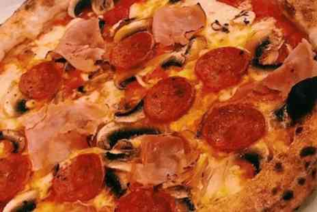 Ciao - 12 Inch Pizza and Soft Drink with Optional Small Tub of Ice Cream Each for One or Two - Save 49%