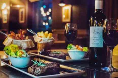 Ibis Styles Manchester Portland Hotel - 8oz Rump Steak, Rub and Side with Wine for Up to Four - Save 50%