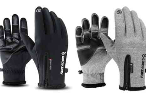 Groupon Goods Global GmbH - One or Two Pairs of Unisex Touch Screen Gloves V2 - Save 80%