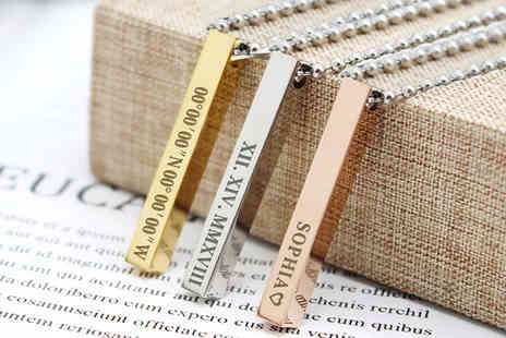 EDSG - Personalised engraved bar necklace - Save 72%