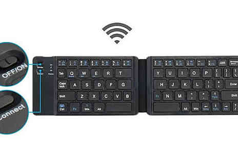 SecretStorz - Folding Bluetooth Smartphone Compatible Keyboard Choose from 2 Colours - Save 68%