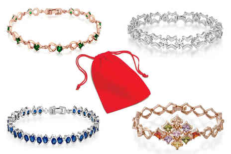 GameChanger Associates - Elegant crystal bracelet choose from four colours - Save 84%