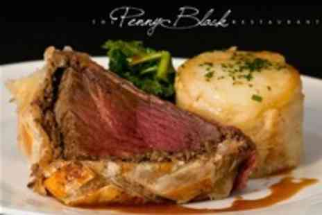 The Penny Black Restaurant - Beef Wellington and Dessert For Two Plus Bubbly in British Fine Dining - Save 58%