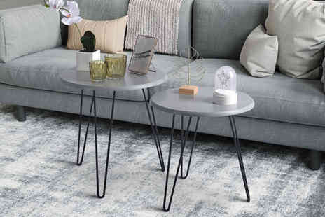 Direct Sourcing Project - Set of two nested coffee tables deck out your lounge and dining room - Save 0%