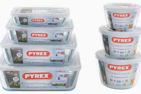Groupon Goods Global GmbH - 6, 8 or 14 Piece Pyrex Glass Container Set - Save 27%