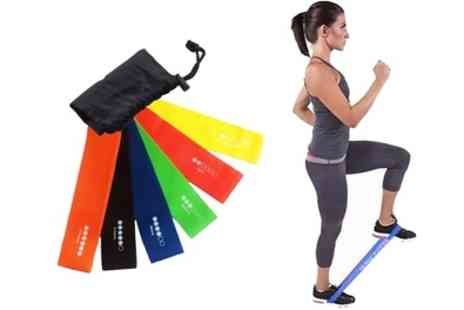 Groupon Goods Global GmbH - Six Level Exercise Resistance Loop Bands - Save 80%