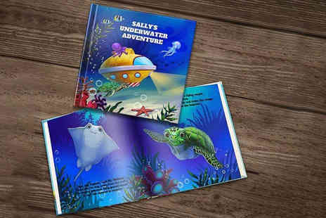 Dinkleboo - The Underwater Adventure personalised story book in paperback or a book in hardback - Save 67%