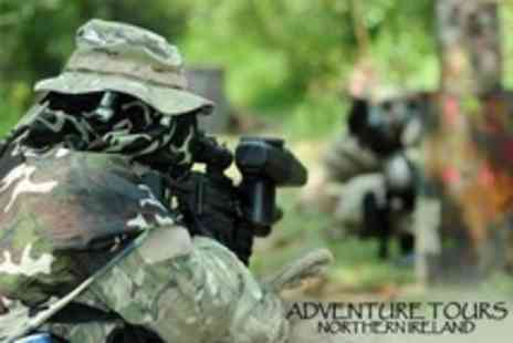 Adventure Tours NI - Paintballing With 100 Paintballs - Save 50%