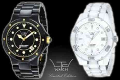 LTD Watches - LTD Ceramic Watches with Sapphire Glass Choice of Women s, Men s or Unisex   - Save 65%