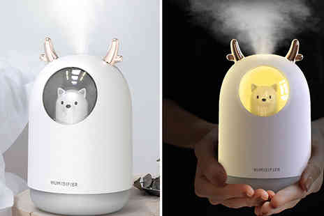 Spezzee - Mini Usb Luminous Humidifier Choose from 2 Colours - Save 62%