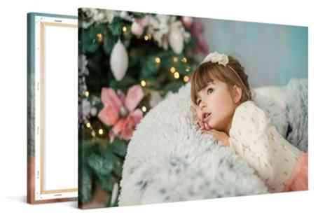 Photo Gifts - Custom Made Photo Canvas in Choice of Format and Size - Save 73%
