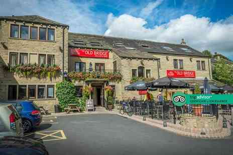 The Old Bridge Inn - Two for an overnight West Yorkshire getaway for two people with breakfast, bottle of Prosecco and late checkout - Save 55%