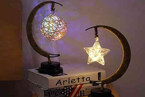 Magic Trend - Small Led half moon lamp with star, ball, rattan ball or apple detail choose from four light colours - Save 0%