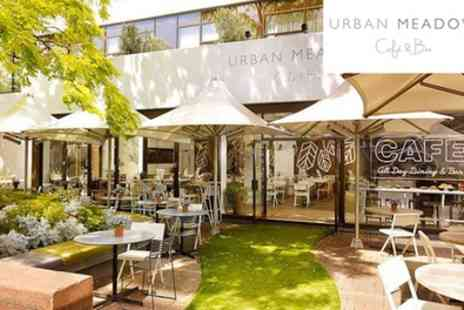 Urban Meadow Cafe Doubletree By Hilton - Three Course Dinner with Bottle of Bubbles for Two or Four - Save 52%