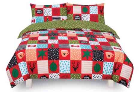 Groupon Goods Global GmbH - Festive Reversible Duvet Set - Save 0%