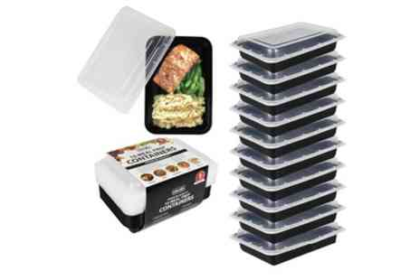 Groupon Goods Global GmbH - 10, 20 or 30 Meal Prep Microwaveable Food Containers - Save 77%