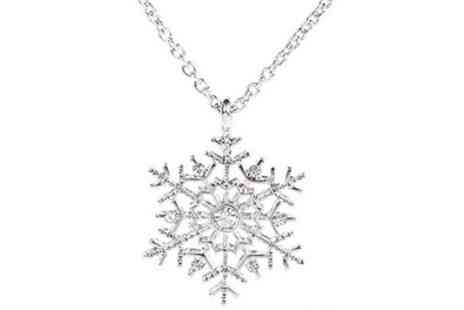 Groupon Goods Global GmbH - One or Two Crystal Snowflake Necklaces - Save 92%