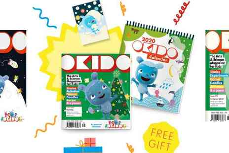Okido - Magazine Christmas Subscription Bundle  Includes Free Calendar and 2 Free Issues and A Free Personalised Card - Save 14%