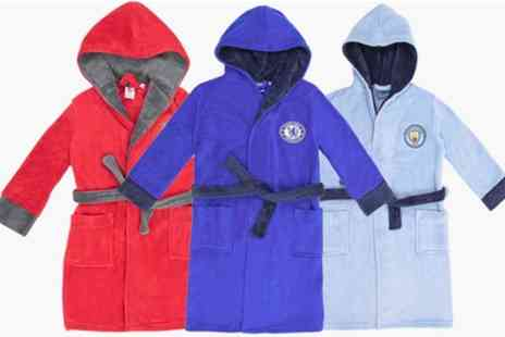 Groupon Goods Global GmbH - Licensed Kids Football Soft Fleece Dressing Gown Robes in Choice of Designs - Save 0%