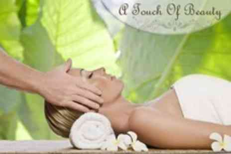 A Touch Of Beauty - Pamper Package Including Back Massage, Head Massage Plus Lash and Brow Tint - Save 63%