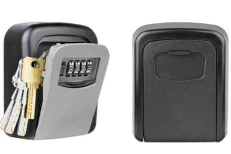 Groupon Goods Global GmbH - Wall Mounted Key Safe Box with Four Digit Combination Lock - Save 63%