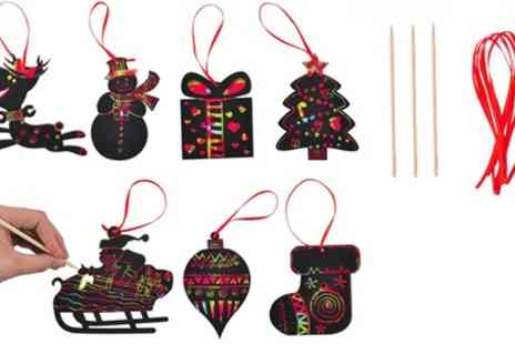 Groupon Goods Global GmbH - Up to Six Packs of Christmas Scratch Decorations - Save 70%