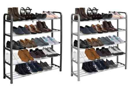 Groupon Goods Global GmbH - One or Two Heavy Duty Metal Shoe Racks - Save 43%