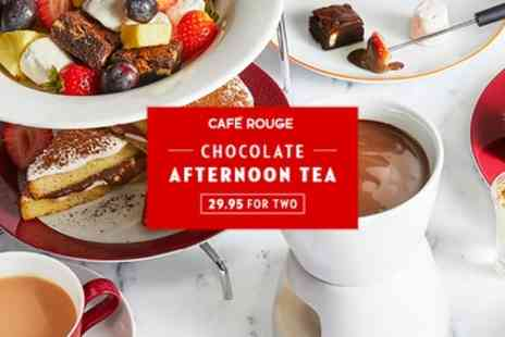 Cafe Rouge - Chocolate Afternoon Tea for Two with Optional Prosecco - Save 0%