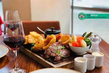 Hilton Canary Wharf - Roasting board for two people with a bottle of wine to share - Save 61%